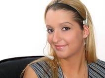 Operador de la mujer joven Fotos de archivo libres de regalías