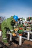 Operador de la producción del gas Imagenes de archivo