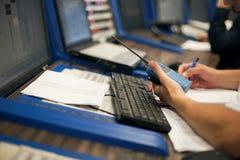 Operador de la sala de control Imagen de archivo
