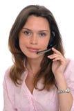 Operador de la secretaria de la mujer Imagen de archivo libre de regalías