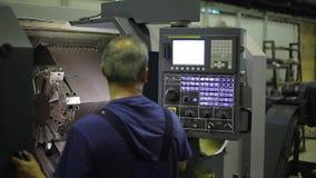 Operador de máquina industrial Console para filme