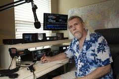 Operador de rádio amador fotografia de stock