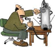 Operador de rádio de presunto ilustração stock