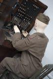 Operador de radio Foto de archivo libre de regalías