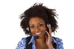 Operador de sexo femenino de la atención al cliente Imagen de archivo