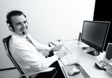 Operador de telefone Imagem de Stock Royalty Free