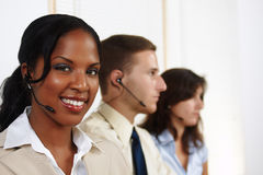 Operador de telefone da mulher Foto de Stock Royalty Free