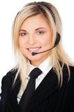 Operador de telefone do smiley Imagens de Stock