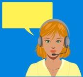 Operador de telefone louro Imagens de Stock