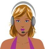 Operador de telefone louro 'sexy' Imagem de Stock Royalty Free