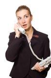 Operador de telefone surpreendido Imagens de Stock Royalty Free