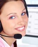 Operador del centro de atención telefónica Foto de archivo libre de regalías