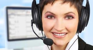 Operador del centro de atención telefónica Fotografía de archivo