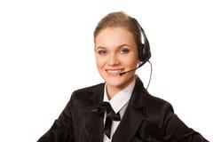 Operador del centro de atención telefónica Imágenes de archivo libres de regalías