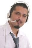 Operador del centro de atención telefónica Foto de archivo