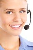 Operador del centro de atención telefónica Imagen de archivo