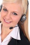 Operador del centro de atención telefónica Fotografía de archivo libre de regalías