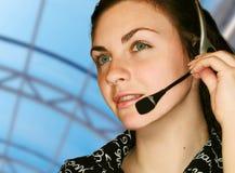 Operador del servicio de atención al cliente Imagen de archivo