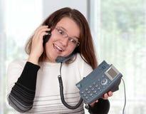 Operador del teléfono de la ayuda Fotos de archivo libres de regalías