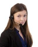 Operador del teléfono de la ayuda Fotografía de archivo