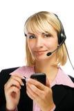 Operador del teléfono directo Fotografía de archivo