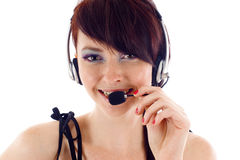 Operador do apoio a o cliente Fotos de Stock