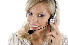 Operador do apoio a o cliente Fotografia de Stock