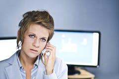Operador do centro de chamadas Foto de Stock