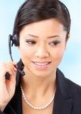 Operador do centro de chamadas Fotografia de Stock Royalty Free