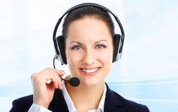 Operador do centro de chamadas Foto de Stock Royalty Free