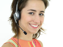 Operador do centro de chamadas Imagem de Stock Royalty Free