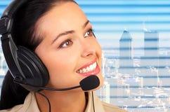 Operador do centro de chamadas Imagens de Stock Royalty Free
