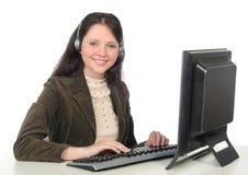 Operador do centro de chamadas Fotos de Stock Royalty Free