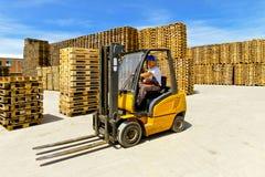 Operador do Forklift Fotografia de Stock