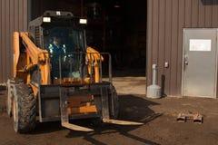 Operador do Forklift da mulher Fotografia de Stock Royalty Free