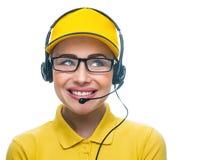 Operador do serviço da chamada imagens de stock royalty free