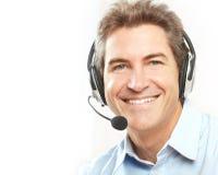 Operador do serviço de atenção a o cliente. Fotografia de Stock