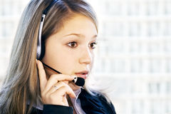 Operador do serviço de atenção a o cliente Imagens de Stock