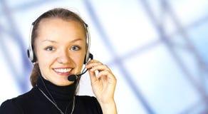 Operador do serviço de atenção a o cliente Fotos de Stock