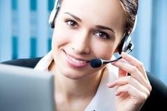 Operador do telefone da sustentação