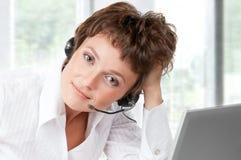 Operador do telefone da sustentação imagens de stock royalty free