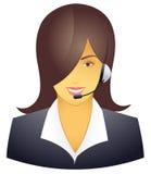 Operador do telefone da sustentação ilustração royalty free