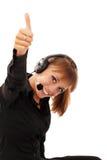 Operador do telefone da sustentação imagens de stock