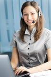 Operador do telefone da sustentação fotos de stock