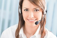 Operador do telefone da sustentação Fotografia de Stock Royalty Free