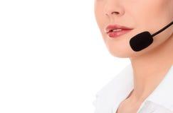 Operador do telefone do apoio Imagens de Stock