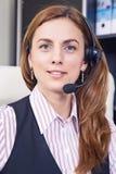Operador do telefone do apoio foto de stock