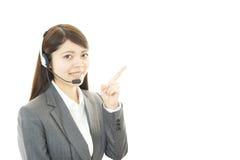 Operador dos serviços ao cliente Fotografia de Stock