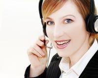 Operador feliz Foto de Stock Royalty Free