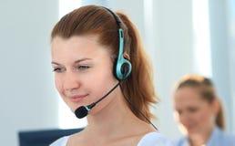 Operador fêmea do apoio a o cliente Imagens de Stock Royalty Free